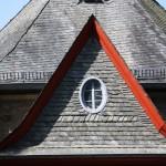 Dach der Kirche in Albshausen
